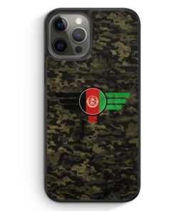 iPhone 12 Pro Silikon Hülle - Afghanistan Camouflage