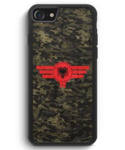 iPhone SE 2020 Silikon Hülle - Albanien Albania Camouflage