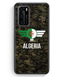 Huawei P40 Silikon Hülle - Algerien Algeria Camouflage mit Schriftzug
