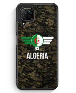 Huawei P40 lite Silikon Hülle - Algerien Algeria Camouflage mit Schriftzug