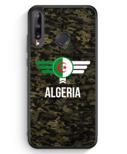 Huawei P40 lite E Silikon Hülle - Algerien Algeria Camouflage mit Schriftzug