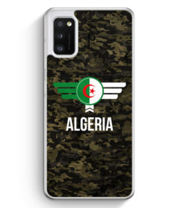 Samsung Galaxy A41 Hülle - Algerien Algeria Camouflage mit Schriftzug