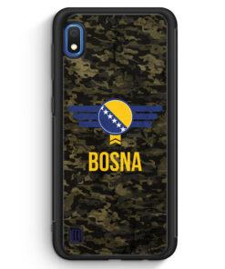 Samsung Galaxy A10 Silikon Hülle - Bosna Bosnien Camouflage mit Schriftzug