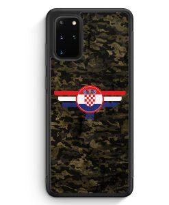 Samsung Galaxy S20+ Plus Silikon Hülle - Hrvatska Kroatien Camouflage