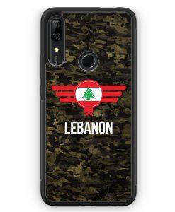 Huawei P Smart Z Silikon Hülle - Libanon Lebanon Camouflage mit Schriftzug