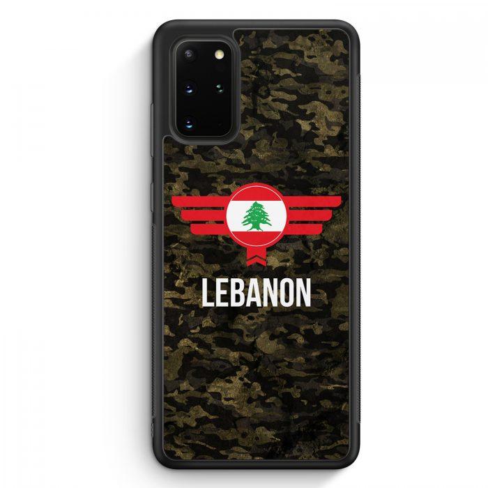 Samsung Galaxy S20+ Plus Silikon Hülle - Libanon Lebanon Camouflage mit Schriftzug
