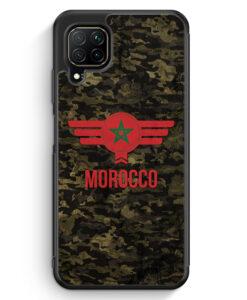 Huawei P40 lite Silikon Hülle - Marokko Morocco Camouflage mit Schriftzug