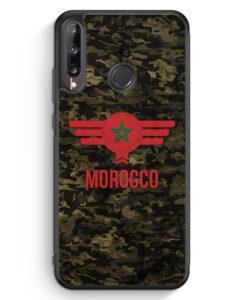 Huawei P40 lite E Silikon Hülle - Marokko Morocco Camouflage mit Schriftzug