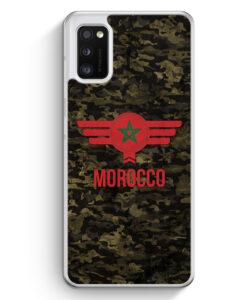 Samsung Galaxy A41 Hülle - Marokko Morocco Camouflage mit Schriftzug