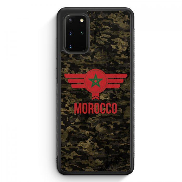 Samsung Galaxy S20+ Plus Silikon Hülle - Marokko Morocco Camouflage mit Schriftzug