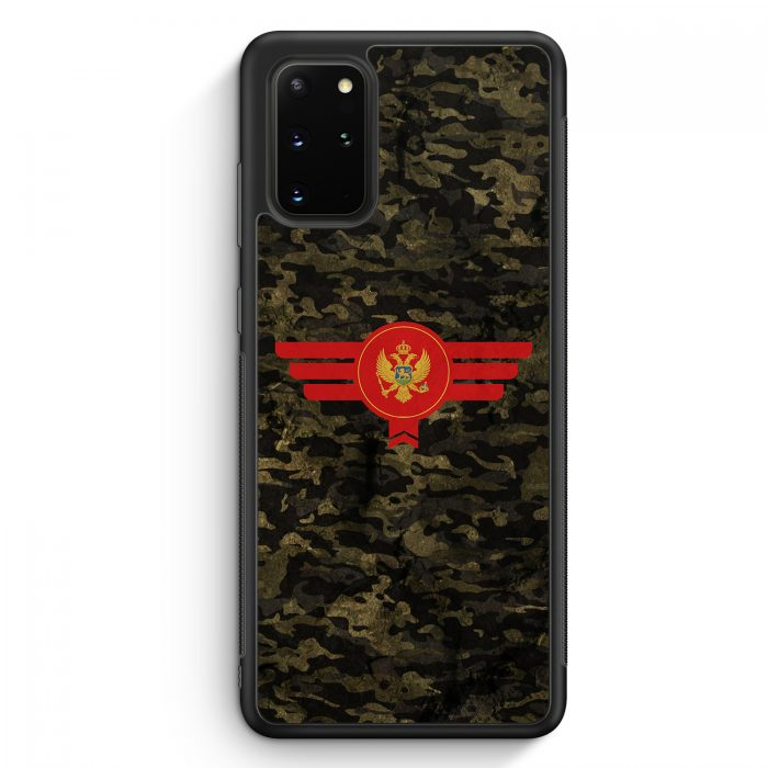 Samsung Galaxy S20+ Plus Silikon Hülle - Montenegro Camouflage