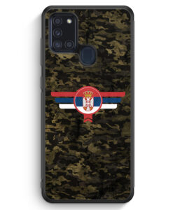 Samsung Galaxy A21s Silikon Hülle - Srbija Serbien Camouflage