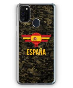 Samsung Galaxy M21 Hülle - Espana Spanien Camouflage mit Schriftzug