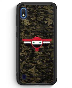 Samsung Galaxy A10 Silikon Hülle - Syrien Syria Camouflage