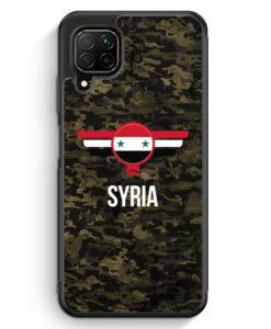 Huawei P40 lite Silikon Hülle - Syrien Syria Camouflage mit Schriftzug