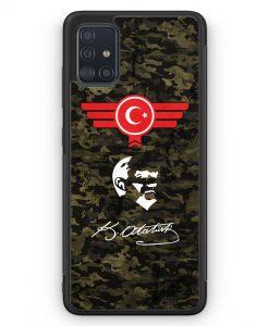 Samsung Galaxy A51 Silikon Hülle - Atatürk Türkiye Türkei Camouflage