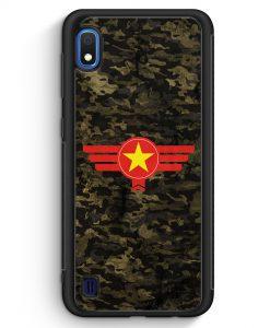 Samsung Galaxy A10 Silikon Hülle - Vietnam Camouflage