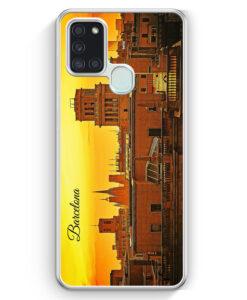 Samsung Galaxy A21s Hülle - Panorama Barcelona