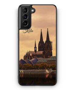 Samsung Galaxy S21 Silikon Hülle - Panorama Köln Kölner Dom