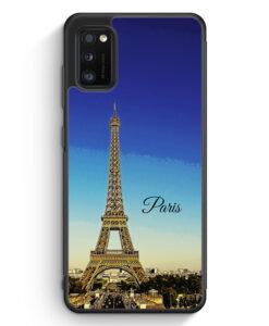 Samsung Galaxy A41 Silikon Hülle - Panorama Paris Eiffelturm