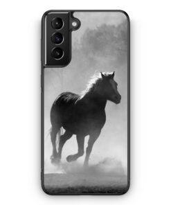 Samsung Galaxy S21+ Plus Silikon Hülle - Pferd Grau Foto