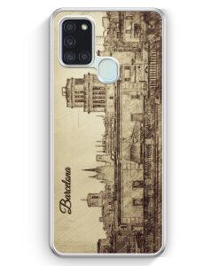 Samsung Galaxy A21s Hülle - Vintage Panorama Barcelona