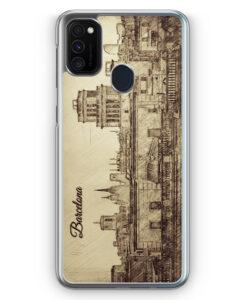 Samsung Galaxy M21 Hülle - Vintage Panorama Barcelona