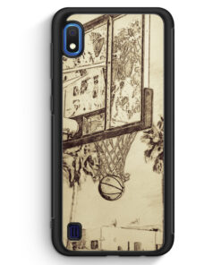 Samsung Galaxy A10 Silikon Hülle - Vintage Basketball