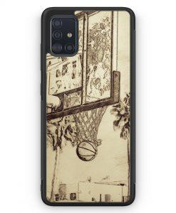 Samsung Galaxy A51 Silikon Hülle - Vintage Basketball