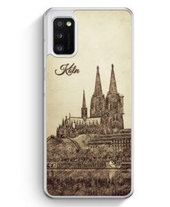 Samsung Galaxy A41 Hülle - Vintage Panorama Köln Kölner Dom