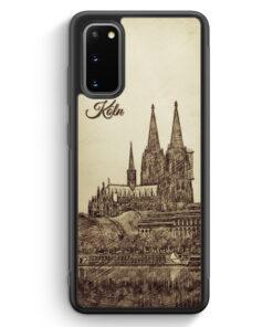 Samsung Galaxy S20 Silikon Hülle - Vintage Panorama Köln Kölner Dom