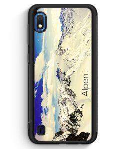Samsung Galaxy A10 Silikon Hülle - Panorama Alpen Berge
