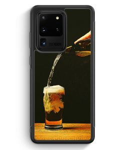 Samsung Galaxy S20 Ultra Silikon Hülle - Bierglas Bier
