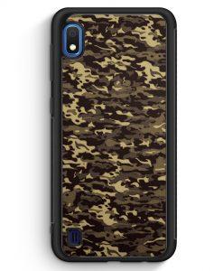 Samsung Galaxy A10 Silikon Hülle - Camouflage Grün