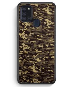 Samsung Galaxy A21s Silikon Hülle - Camouflage Grün