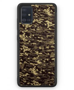 Samsung Galaxy A51 Silikon Hülle - Camouflage Grün
