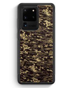 Samsung Galaxy S20 Ultra Silikon Hülle - Camouflage Grün