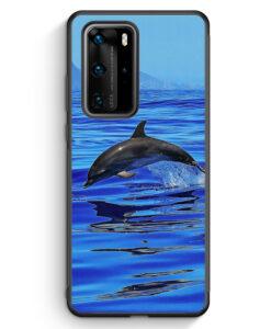 Huawei P40 Pro Silikon Hülle - Delfin Delphin Meer