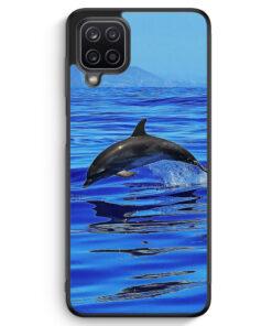 Samsung Galaxy A12 Silikon Hülle - Delfin Delphin Meer