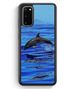 Samsung Galaxy S20 Silikon Hülle - Delfin Delphin Meer