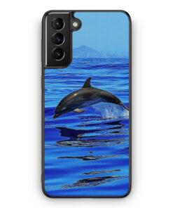 Samsung Galaxy S21 Silikon Hülle - Delfin Delphin Meer