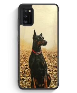Samsung Galaxy A41 Silikon Hülle - Doberman Hund