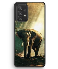 Elefant Foto Front - Silikon Hülle für Samsung Galaxy A72