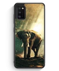 Samsung Galaxy A41 Silikon Hülle - Elefant Foto Front