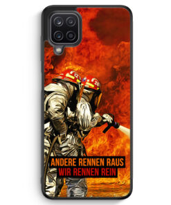 Samsung Galaxy A12 Silikon Hülle - Andere Rennen Raus - Wir Rennen Rein Feuerwehr