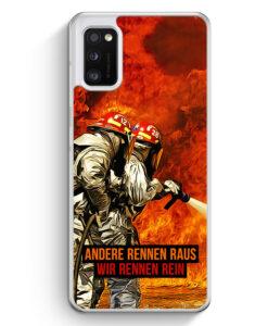 Samsung Galaxy A41 Hülle - Andere Rennen Raus - Wir Rennen Rein Feuerwehr