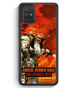 Samsung Galaxy A71 Silikon Hülle - Andere Rennen Raus - Wir Rennen Rein Feuerwehr