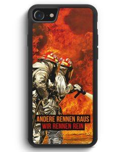 iPhone SE 2020 Silikon Hülle - Andere Rennen Raus - Wir Rennen Rein Feuerwehr