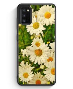 Samsung Galaxy A41 Silikon Hülle - Gänseblümchen Landschaft
