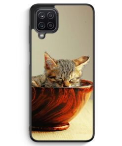 Samsung Galaxy A12 Silikon Hülle - Katzenbaby